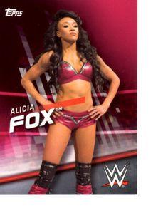 2016 Topps WWE Divas Revolution Pink #14 Alicia Fox /25 SP Victoria Crawford
