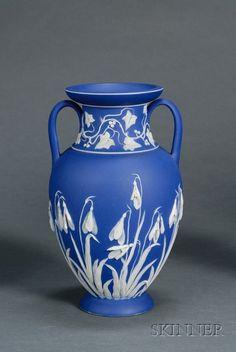 Wedgwood Dark Blue Jasper Dip Vase