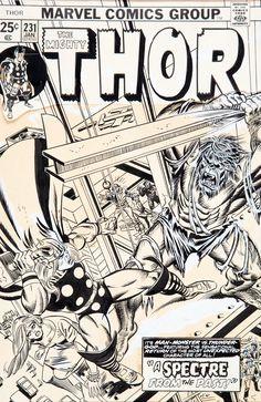 Gil Kane and Frank Giacoia with John Romita Thor #231
