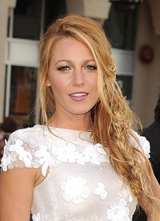 Blake Lively with a loose side braid
