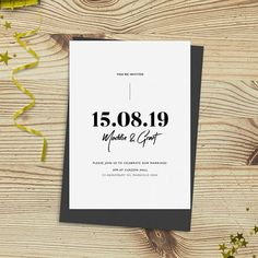 00e705c8c5 Gorgeous modern wedding invitation design on Etsy. Get the design  customised and receive printable files