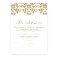 Invitaciones Vintage Elegante - Invitaciones Mi Diseño Costa Rica www.invitacionescr.com #vintage #elegant #clasic #invitations #wedding #costarica
