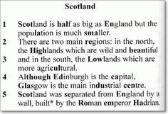 Английское сочинение про Шотландию. Текст для аудио темы - 062.