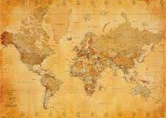 retro world map - Google Search
