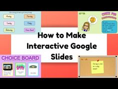 How to Make INTERACTIVE Google Slides (All the Basics & Then Some!) - YouTube Teaching Technology, Educational Technology, Teaching Resources, Classroom Resources, Classroom Ideas, Instructional Technology, Instructional Strategies, Science Classroom, Teaching Tools