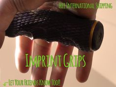 Imprint Bicycle Grips - Make Your Mark by TMR Designs — Kickstarter.  Easy to mould to your own hands. Complete contact means reduced and even pressure, maximum comfort & ultimate control