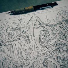 Surfacing #sketch #WIP by jamesjeanart