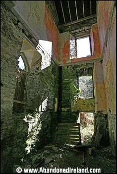 Abandoned castle 2km west of Youghal. Youghal is a market town situated on the N25 East of Cork City, Ireland.