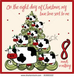 the 12 days of christmas eight day eight maids a milking by lyeyee - 12 Day Of Christmas