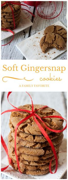 Soft Gingersnap Cookies by barbarabakes #Cookies #Gingersnap
