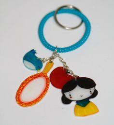Snow white keychain by mjdaluz on Etsy, $10.00