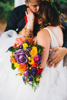 mexican inspired colorful cascading bouquet by orlando flower market Floral Wedding, Wedding Flowers, Wedding Bouquets, Wedding Designs, Wedding Styles, Eve Of Milady, Southern Bride, Cascade Bouquet, Ballroom Wedding