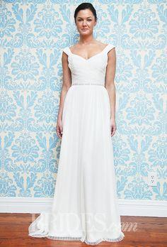 Brides.com: Modern Trousseau - Fall 2015%0AWedding dress by Modern TrousseauPhoto: John Aquino