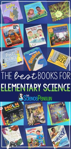 The BEST Books for Elementary Science. All of my favorite books for teaching science from The Science Penguin. Science Curriculum, Science Resources, Science Lessons, Science Education, Teaching Science, Science Activities, Life Science, Science Ideas, Primary Education