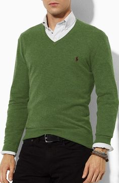 Polo+Ralph+Lauren+Classic+Fit+Sweater+available+at+#Nordstrom