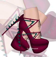 """Red Velvet"" by Ines Congedi  http://inescongedi.tumblr.com"