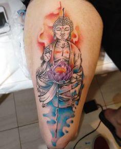 buda tattoo, budah, watercolor, budismo, inked, artist