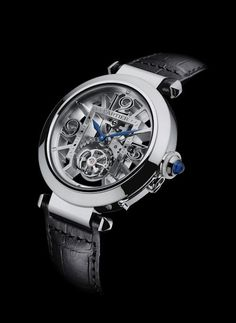 Pasha de Cartier Skeleton Flying Tourbillion. | I'm a watch fiend and Cartier is that fix.