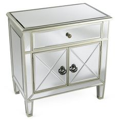 Check out this item at One Kings Lane! Amanda Mirrored Cabinet