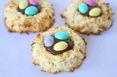 COCONUT MACAROON NUTELLA COOKIE NESTS  http://www.twopeasandtheirpod.com/coconut-macaroon-nutella-nests/