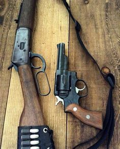 """The perfect pair? Rossi M92 16"""" and a 70's vintage Ruger Service Six both in .357 Magnum."""