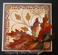 Tutorial for stamping multicolored leaves by Selma - Cards and Paper Crafts at Splitcoaststampers
