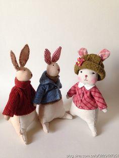 Выкройка милого зайчика. Как сшить милого текстильного зайца