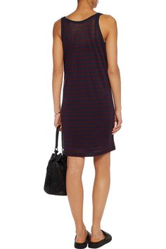 Shop on-sale T by Alexander Wang Striped jersey mini dress. Browse other discount designer Dresses & more on The Most Fashionable Fashion Outlet, THE OUTNET.COM