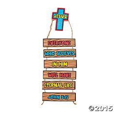 Eternal Life Door Hanger Decoration Craft Kit - Oriental Trading
