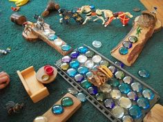"""Lovely small world play with loose parts ("""",)"""