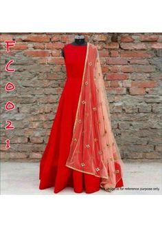 Bollywood Replica - Designer Glamorous Red Anarkali Suit - FC0021