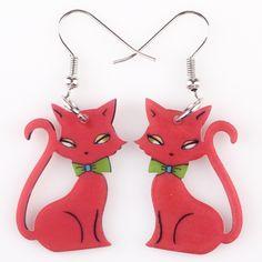 New! 40% off Cute Cat Wearing Bow Tie Earrings + Free shipping Worldwide!  #catearrings #earrings #fashionearrings #fashionable #cat #cats #kitten #kittens #kittenearrings #kittenjewelry #catjewelry #catjewellery #jewelry #jewellery #sale #discount #catlover #catgift #catgifts #giftforcatlover #gift #gifts #cheapgifts #freeshipping #cute #cutecats