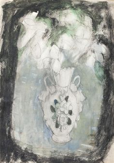 Anne Redpath, Flowers in a White Vase
