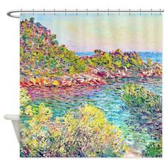 Monet Landscape Monte Carlo Shower Curtain on CafePress.com