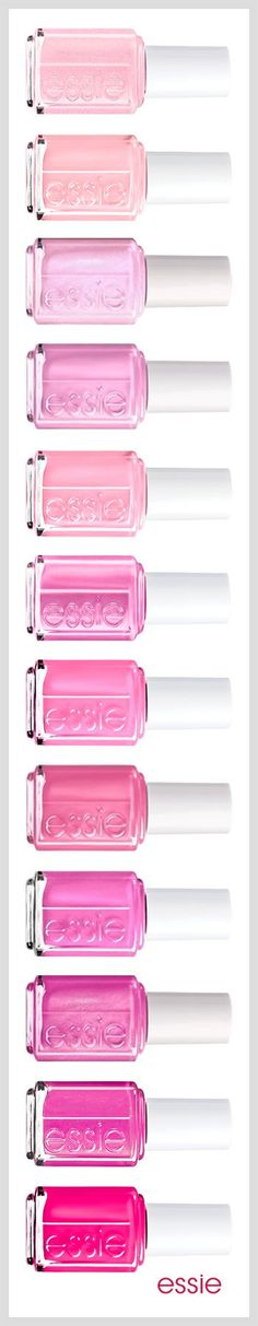 pretty pink polishes #essie