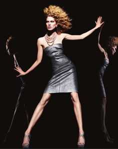 Iselin Steiro for Bergdorf Goodman Pre-Fall 2010 Catalogue - Elie Tahari leather dress