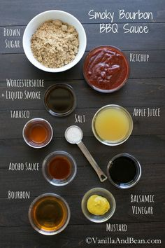 Smoky Bourbon BBQ Sauce | Vanilla And Bean