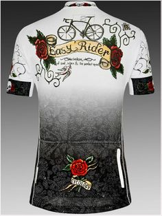 """""""Rose Tattoo"""" women's cycling jersey from Cycology. For seeker of soul, solace and the perfect road. It's out there and we find it."""