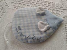 Getreidekissen+Körnerkissen+Baby+Maus+blau+kariert+von+Von+Herz+zu+Herz+<3+auf+DaWanda.com