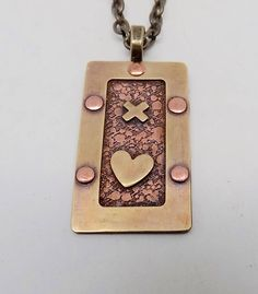 Mixed Metal Jewelry, Metal Clay Jewelry, Copper Jewelry, Pendant Jewelry, Jewlery, Steampunk Necklace, Gold Chains For Men, Diy Crafts Jewelry, Mixed Metals