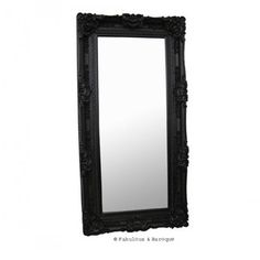 Grand Beau Wall Mirror 6ft x 3ft- Black