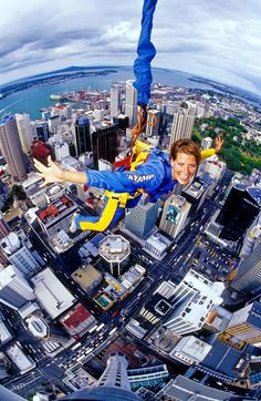 Photos and videos of SkyJump at the Sky Tower in Auckland New Zeland. so doing this someday!