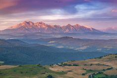 Panorama Tatr z Wysokiego Wierchu     Pieniny Małe