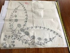 Large Deighton's Vintage iron on embroidery transfer 29678