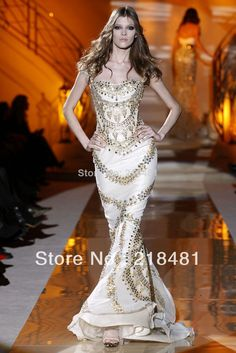 PLH-05 2014 Sweetheart Cap Sleeve Crystal Party Dresses Hot sale Sexy Zuhair Murad Evening Dresses Price: US $299.00