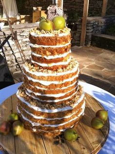 Early Appalachian weddings featured stacked cakes with layers provided by friends and family and brought to the ceremony site to be assembled there. Apple butter was often used to fill the layers. Would love to do this for a reunion or large family get-together!