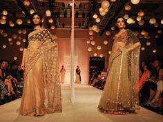 Manish Malhotra at Lakme Fashion Week 2013 Winter Festive: Photos - Peachesandblush Bridal Sari, Indian Bridal Wear, Indian Wedding Outfits, Indian Outfits, Indian Clothes, Indian Weddings, Indian Wear, Wedding Dress, India Fashion Week