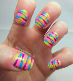 Striped Nails from The Painted Pony