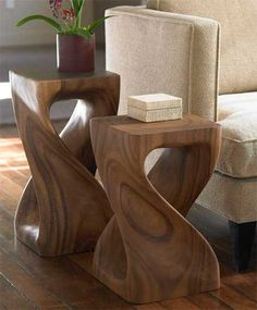 Twisty Stool - Decorative Pedestal from Viva Terra - Furniture Fashion