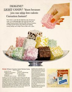 vintage_ads: Carnation (1958) :: Some day I'm going to make a bunch of disgusting-ish vintage recipes.